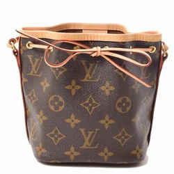 Auth Louis Vuitton Monogram Nanonoe Shoulder Leather Bag