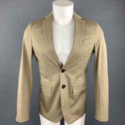 Dsquared2 Size 36 Taupe Cotton Blend Notch Lapel Sport Coat