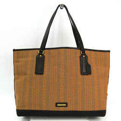 Coach Bleecker Woven Market 70893 Women's Canvas,leather Tote Bag Bf330638