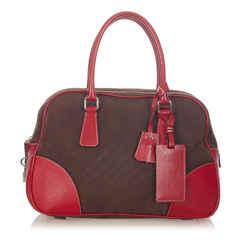 Brown Prada Canapa Bauletto Handbag Bag