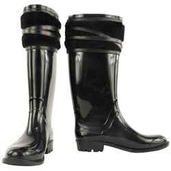Burberry Women's Size 35 Black Lamhurst Rainboots 489bur34