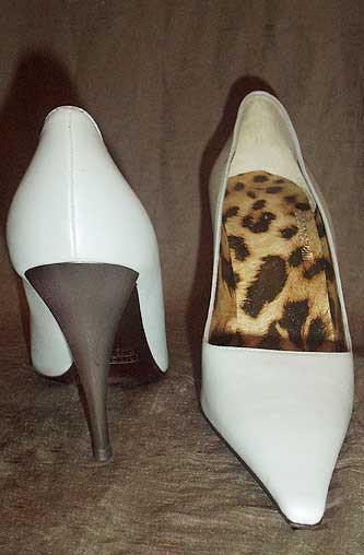 Roberto Cavalli Pearl Gray Silver-Heeled Shoes Pumps Heels 36IT 6 NWOT