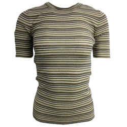 Brunello Cucinelli Multicolor Striped Knit Blouse