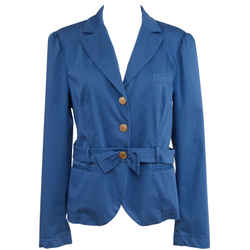 Love Moschino Jacket Coat Blue Cotton Belted Blazer Us 12 F 44