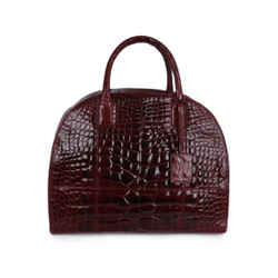"Oscar De La Renta ""audley Bag"" Red Alligator Handbag"