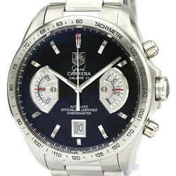 Polished TAG HEUER Grand Carrera Calibre 17 RS Automatic Watch CAV511A BF535335