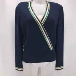 St John Navy Knit Sweater 8