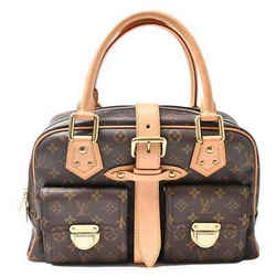 Auth Louis Vuitton Louis Vuitton Monogram Manhattan Gm Shoulder Bag Brown Pvc