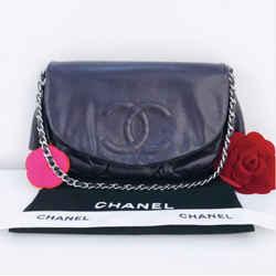 CHANEL Caviar Leather Half Moon WOC in Deep Purple Crossbody Shoulder Handbag