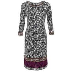 Tory Burch Carmela Boat-neck Print Short Casual Dress Size: 12 (L) Length: Mid-Length