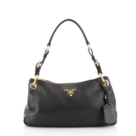 Belted Zip Shoulder Bag Vitello Daino Medium