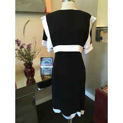 Brand Chloe Size 40 Black & White Crepe Dress Vintage - 2217-37-72319
