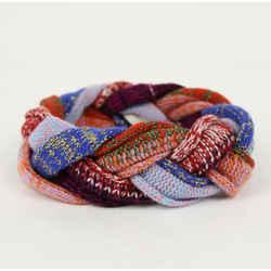 New Gucci Multi-color Wool Braided Headband M/57 476883 9888