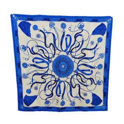 Blue Print Square Scarf