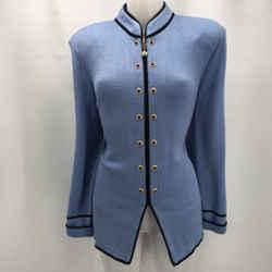 St John Blue Knit Blazer 12