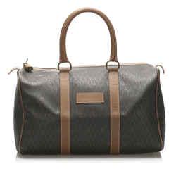 Brown Dior Honeycomb Boston Bag