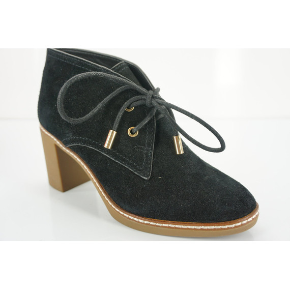 Tory Burch Black Suede 'hilary' Desert Ankle Boots Size 5.5 Nib L $375