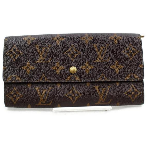 Louis Vuitton Monogram Portefeuille Sarah Long Bifold Wallet 861201
