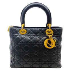 Christian Dior Black Lady Dior Medium Handbag