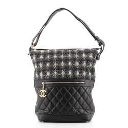 Casual Style Hobo Tweed and Quilted Aged Calfskin Large
