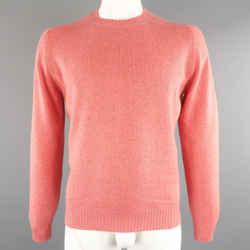 Brunello Cucinelli Size 42 Salmon Knitted Cashmere Sweater