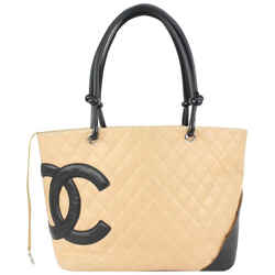 Chanel Beige Quilted Cambon Tote Bag 109cas72