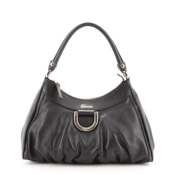 D Ring Hobo Leather Small