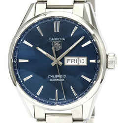 Polished TAG HEUER Carrera Calibre 5 Day Date Automatic Watch WAR201E BF535347