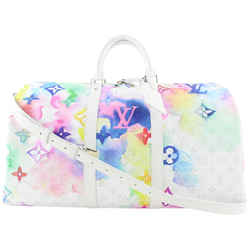 Louis Vuitton Watercolor Monogram Multicolor Keepall Bandouliere 50 Duffle 66lvs423