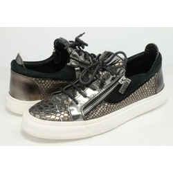 Giuseppe Zanotti London Low Snakeskin Sneakers