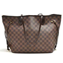 Louis Vuitton Neverfull Mm Ebene Damier Canvas Shoulder Tote Bag Lu146