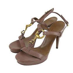 Gucci Women's Mauve Leather Platform Sandal With Horsebit 310369 6820 (39.5 G /
