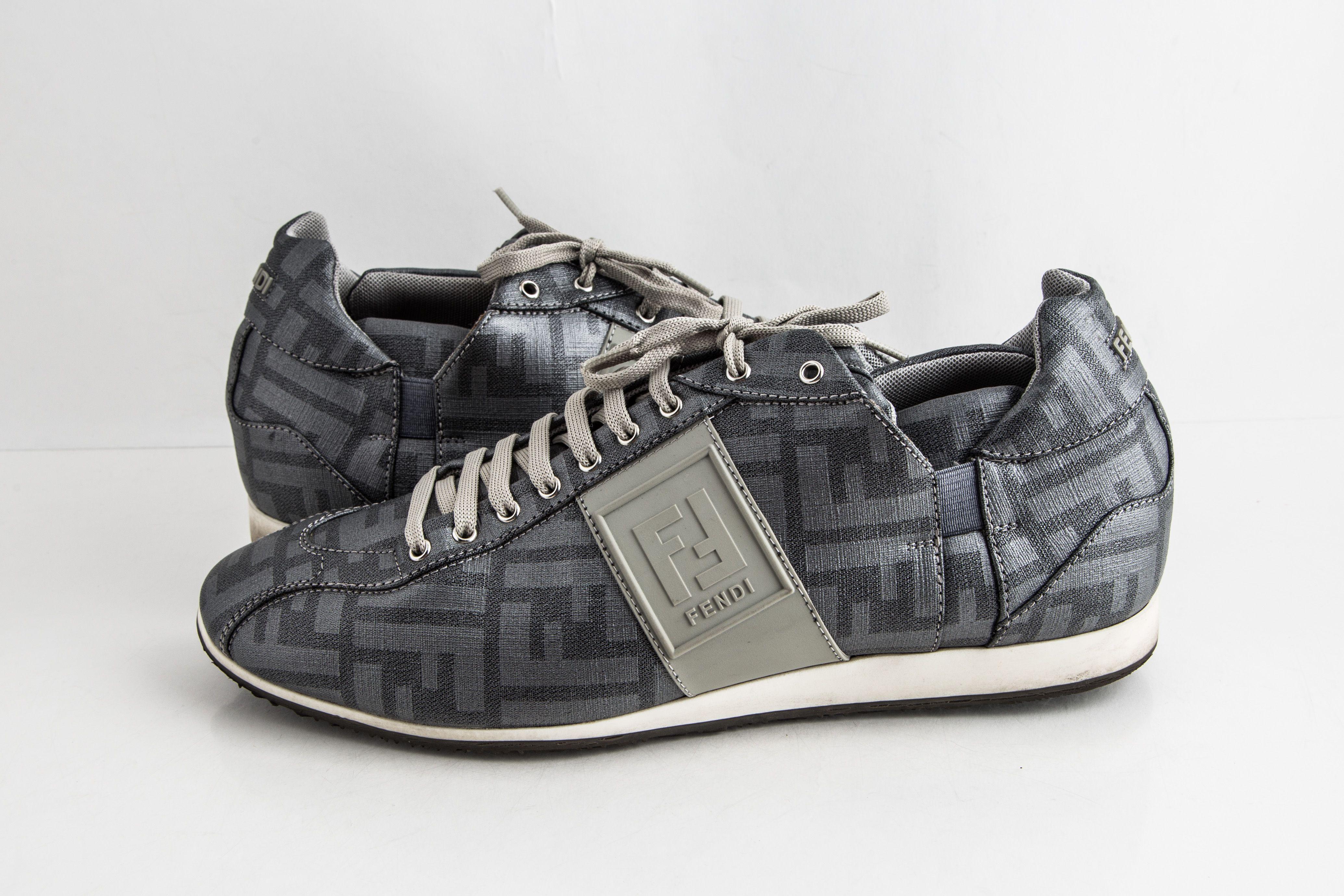 Fendi Silver Softy Zucca Sneakers | LePrix