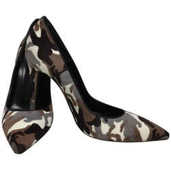 Gianvito Rossi Brown Camouflage Pony Skin Pumps Size: EU 39 (Approx. US 9) Regular (M, B) Item #: 22922265
