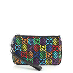 iPhone Pouch Psychedelic Print GG Coated Canvas