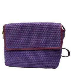 Bottega Veneta Crossbody Messanger Bag Purple