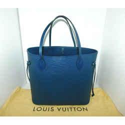 LOUIS VUITTON NEVERFULL MM Epi Blue Shoulder Tote Bag  M40885 AUTHENTIC A361