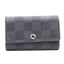 Louis Vuitton Damier Graphite Trifold 6 Ring Key Holder Wallet