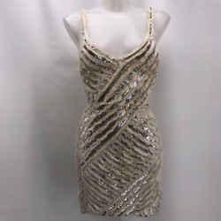 Roberto Cavalli Ivory Sequin Dress 6
