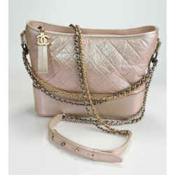 Chanel Aged Calfskin Quilted Medium Gabrielle Hobo - Pink