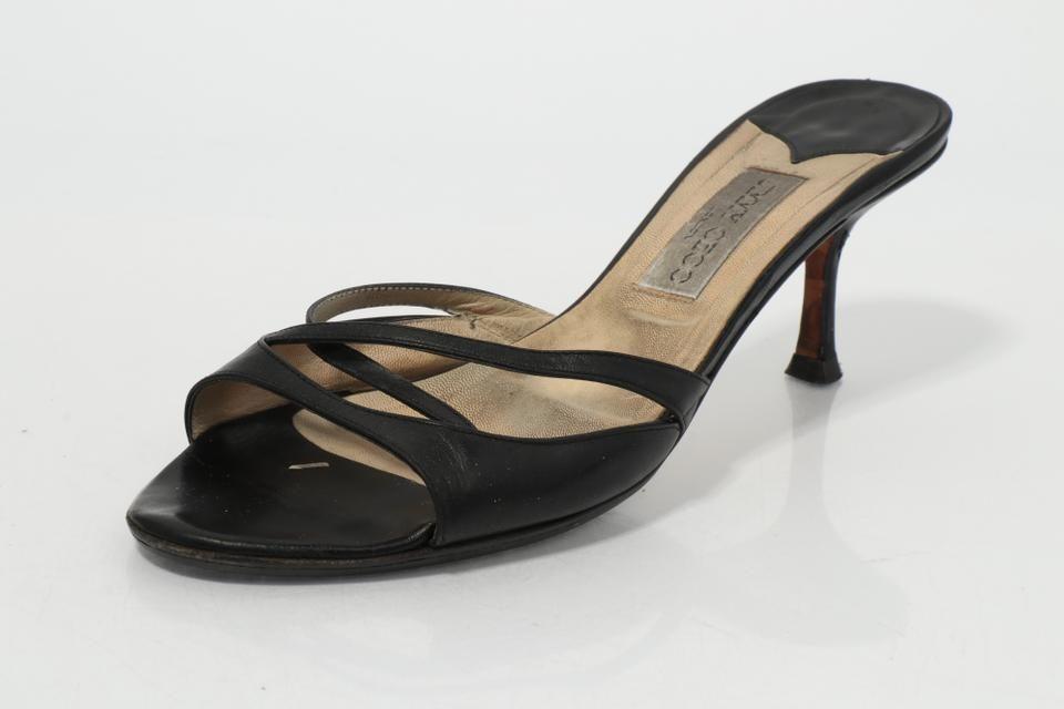 Jimmy Choo Leather Kitten Heel Sandals