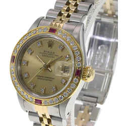 Rolex Champagne Lady Datejust 26mm Factory Diamond Dial 2tone Watch