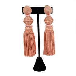 Oscar de la Renta | Tassel Clip Earrings