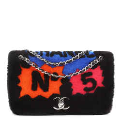 No.5 Comic Flap Bag Shearling with Quilted Lambskin Medium