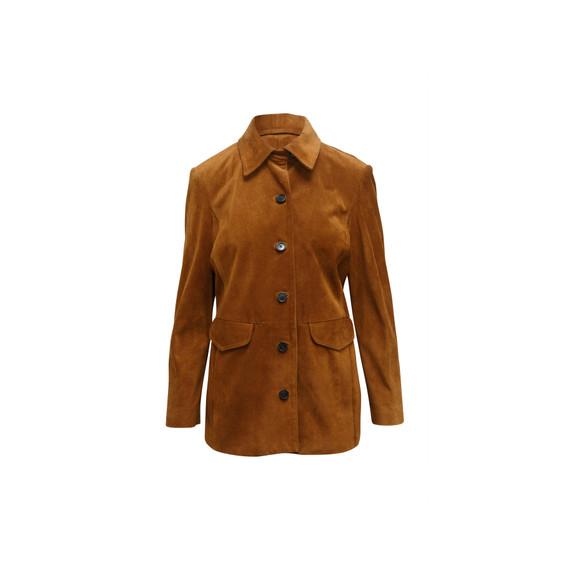 Brown Frame Suede Jacket