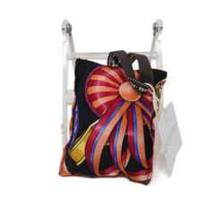 Hermes Orange Multicolor Print Silk Lavender Sachet