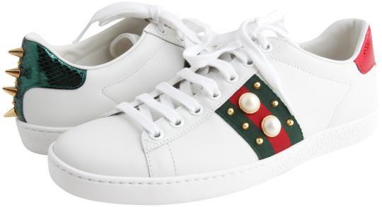 Gucci Ace Studded Leather Sneaker | LePrix