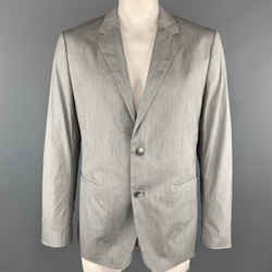 Theory Size 44  Gray Heather Cotton Blend Notch Lapel Sport Coat Jacket