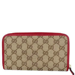 GUCCI GG Monogram Canvas Zippy Wallet Beige 363423