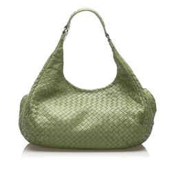 Green Bottega Veneta Intrecciato Campana Hobo Bag